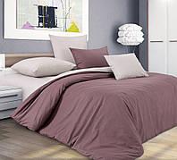 Семейное постельное белье простынь на резинке 180/200/34 Шоколадный крем, перкаль 100%хлопок