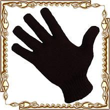 Перчатки зимние, черные, одинарные
