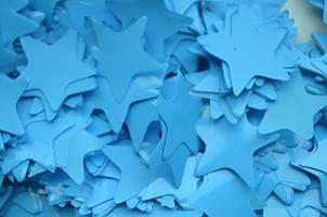 Конфетти в виде звездочек  - голубое