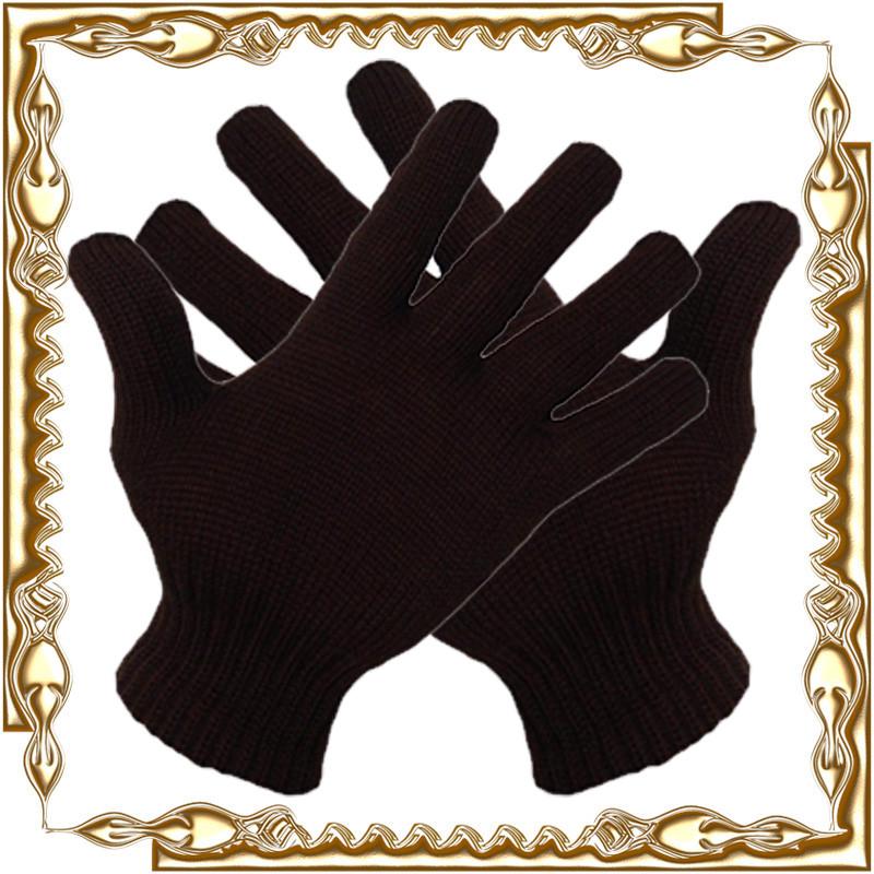 Перчатки зимние, черные, двойные