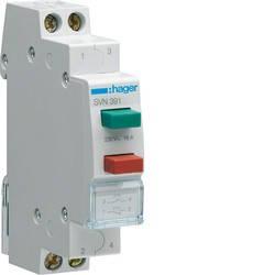 Выключатель двухкнопочный возвратный, (Hager), фото 2