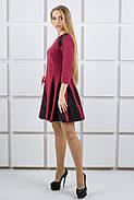 Женское молодежное комбинированое платье Хэлли / размер 44,46 цвет бордо, фото 2