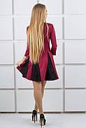 Женское молодежное комбинированое платье Хэлли / размер 44,46 цвет бордо, фото 5