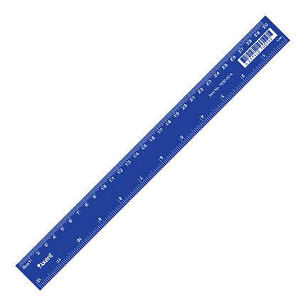 """Линейка пластиковая """"Axent"""" 30 см синяя , фото 2"""