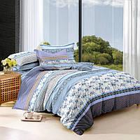 Хлопковое постельное белье из сатина полуторное Комфорт Текстиль