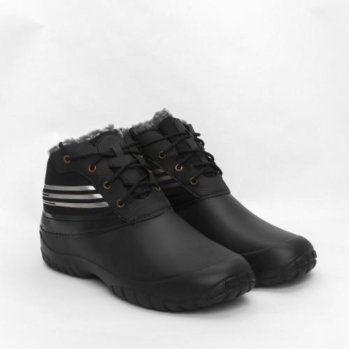 Ботинки ЭВА (пена) GS мужские утепленные (мех) черные
