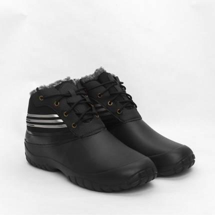 Ботинки мужские ЭВА (пена) GS утепленные Мех черные, фото 2
