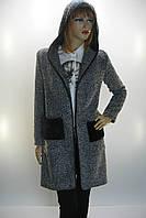 Жіноче пальто- кардиган з капюшоном