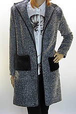 Жіноче пальто- кардиган з капюшоном  , фото 2