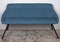 Кушетка банкетка Toledo (Толедо) темно-голубая ткань рогожка