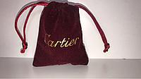 Мешочек Картье темно красный, упаковка, подарочный