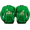 Парные кофты THE KING - HIS QUEEN