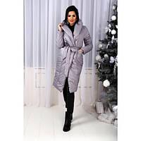 Женское пальто плащевка утеплитель силиконБатал