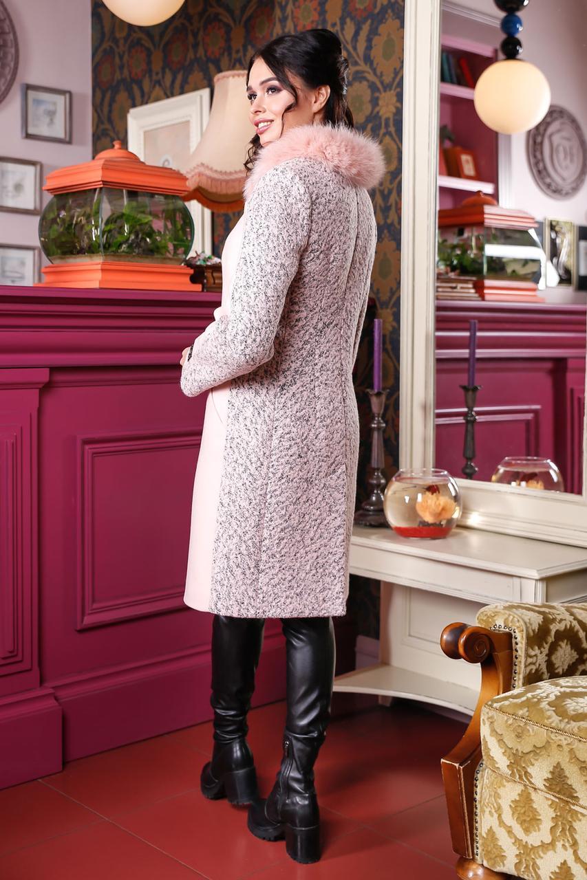 Зимове пальто з натуральним песцем  продажа c1dd000019e2c