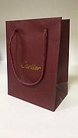 Пакетик Картье бордовый, упаковка, подарочный