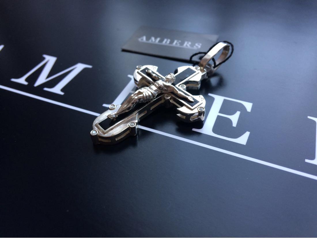 Крест серебряный нательный