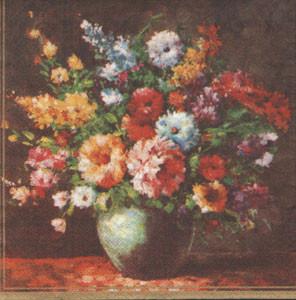 "Салфетка 33х33см (1шт) ""Букет цветов"""