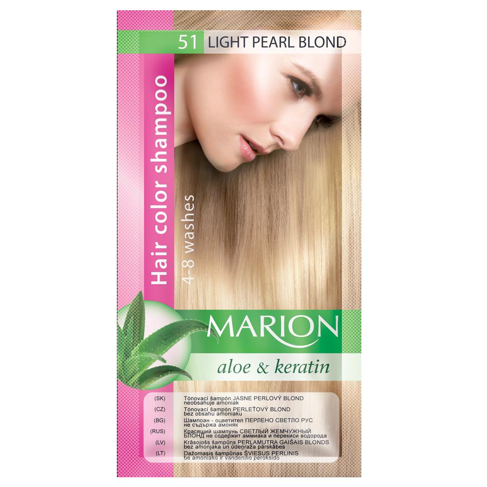 Оттеночный шампунь Marion Color № 51 Светлый перламутровый блонд 40мл (4118001)