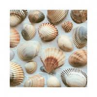 """Салфетка 33х33см (20шт) """"Морские ракушки"""" фото"""