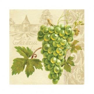 "Салфетка 33х33см (20шт) ""Гроздь винограда. Завод."" кремовый"