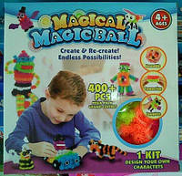 Детский конструктор - липучка Magic Ball на 400 деталей