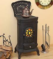 Чугунная отопительно-варочная печь буржуйка Ingrid, Польша, фото 1