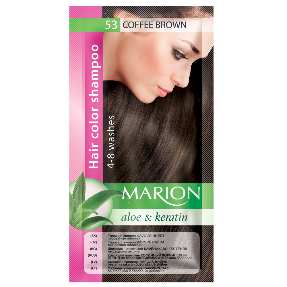 Оттеночный шампунь Marion Color № 53 Кофейный коричневый 40 мл (4118003)