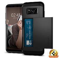 Чехол Spigen для Samsung S8 Plus Slim Armor CS, Black, фото 1