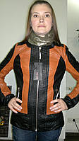 Куртка женская, кож-заменитель. Оптом.