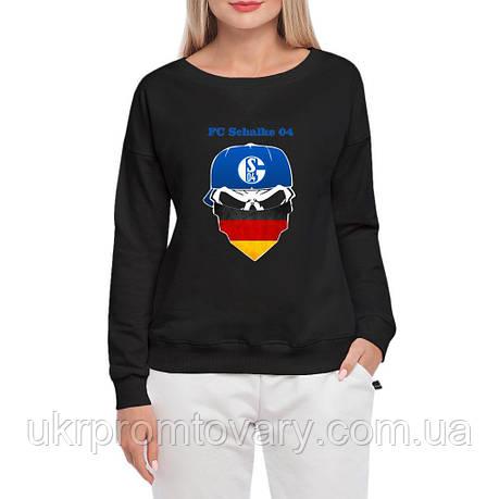 Свитшот женский - FC Schalke, отличный подарок купить со скидкой, недорого, фото 2