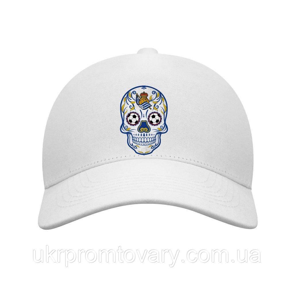 Бейсболка - real sociedad skull, отличный подарок купить со скидкой, недорого