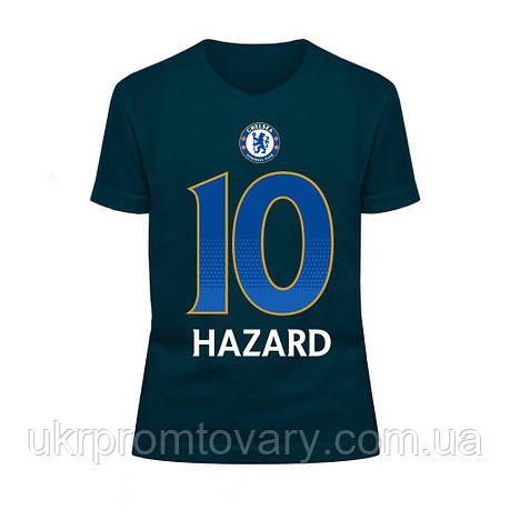 Футболка детская V-вырезом - Chelsea Hazard, отличный подарок купить со скидкой, недорого, фото 2