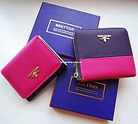 Выбор. Яркий кожаный кошелек BRETTON для девушек. Женский кожаный бумажник. Женское портмоне в коробке. КД1