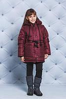 Детская куртка зимняя бордо