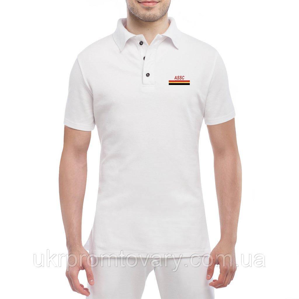 Мужская футболка Поло - Gold social club, отличный подарок купить со скидкой, недорого