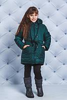 Детская куртка зимняя темно-зеленая