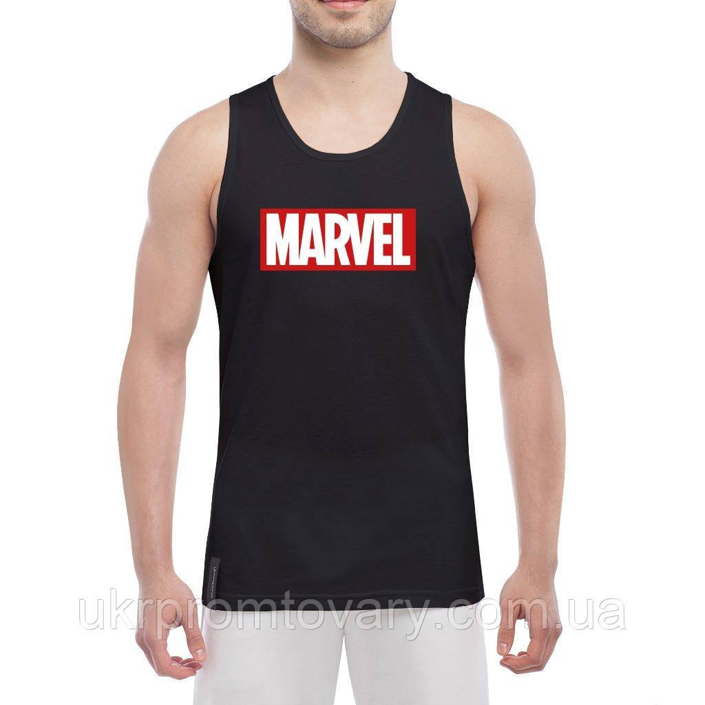 Майка мужская - Marvel logo, отличный подарок купить со скидкой, недорого