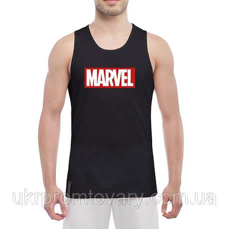 Майка мужская - Marvel logo, отличный подарок купить со скидкой, недорого, фото 2