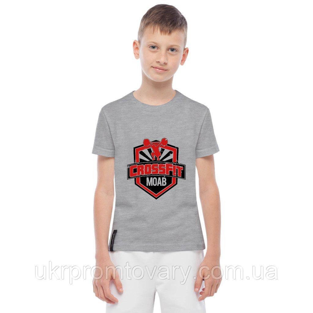 Футболка детская - crossfit MOAB, отличный подарок купить со скидкой, недорого