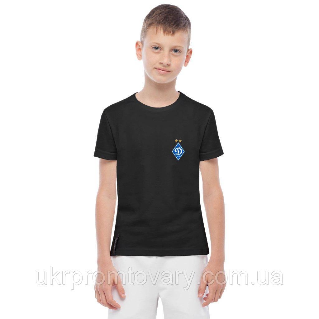 Футболка детская - Динамо лого, отличный подарок купить со скидкой, недорого