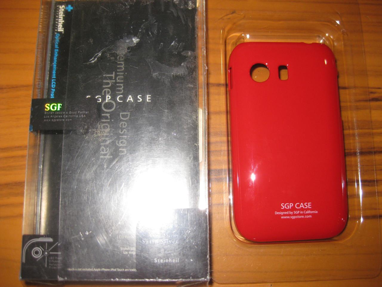 Чехол накладка SGP для Samsung Galaxy Y S5360-красный