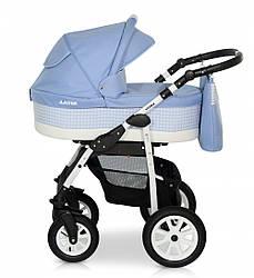 Детская коляска универсальная 2в1 Verdi Laser 04 голубая (Верди, Польша)