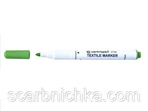 "Маркер ""Centropen"" Textile 2739 2мм желто-зеленый"