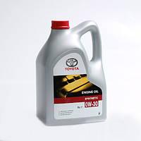 "Масло моторное синтетическое ""engine oil 0w-30"", 5л (производство TOYOTA ), код запчасти: 0888082871"