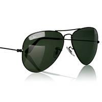 Очки Ray Ban 3025 Авиатор черное стекло, черная оправа, солнцезащитные очки, копия, фото 1