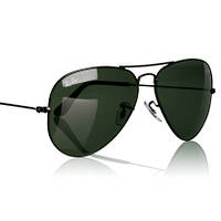 Очки Ray Ban 3025 3026 Aviator All Black стекло комплект, копия