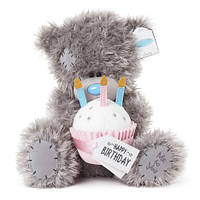 "Ведмедик Teddy MTY з кексом ""Happy Birthday"""