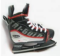 Коньки раздвижные детские хоккейные PVC TG-KH901R(32-35) (р-р 32-35, лезвие-сталь)