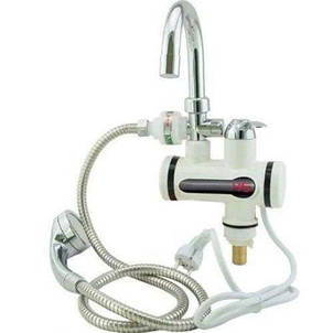 Проточный водонагреватель Water heater Delimano с душем  боковое подключение, фото 2