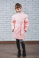 Пальто из кашемира для девочки персик